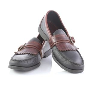 Sperry Top Sider Leather Kiltie Buckle Loafers